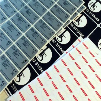 vinyl label 1001-1500 sq. mms